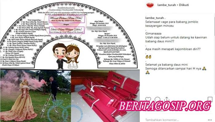 foto undangan pernikahan daus mini