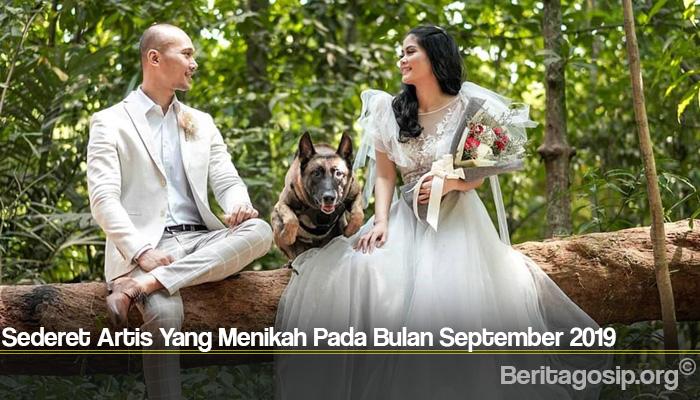 Sederet Artis Yang Menikah Pada Bulan September 2019